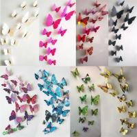 DIY 3D Cute Butterfly Mirror Wall Stickers Decals Wall Art ...