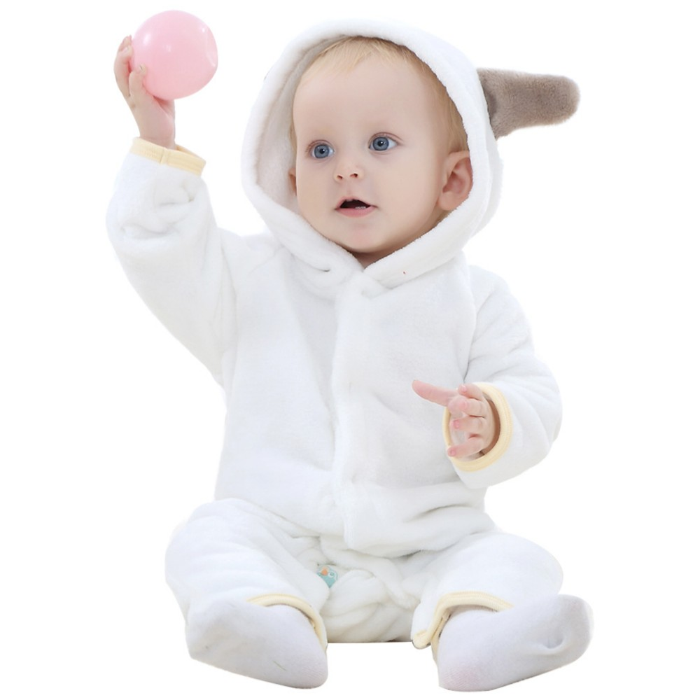 993bc3403065 Baby Clothes Rompers Carter Coral Fleece Spring Autumn Animal ...