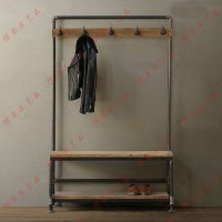Nordic American country industrial pipes iron coat rack ...