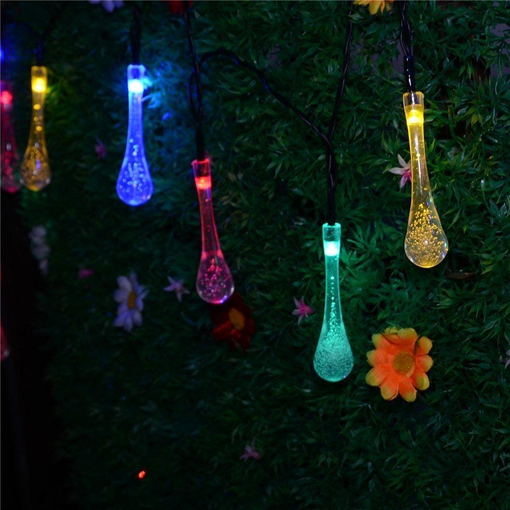 Solar Powered Patio Lights String Image  pixelmaricom