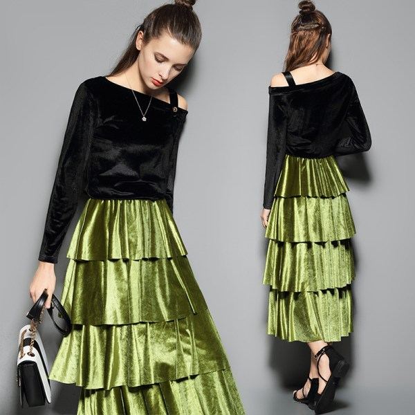Online Green Skirt Suit China