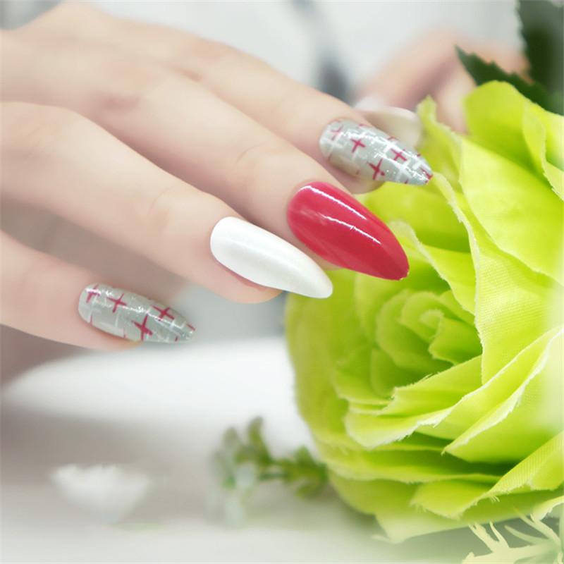 Nueva Red Uñas postizas stiletto sexy uñas de acrílico consejos UV ...