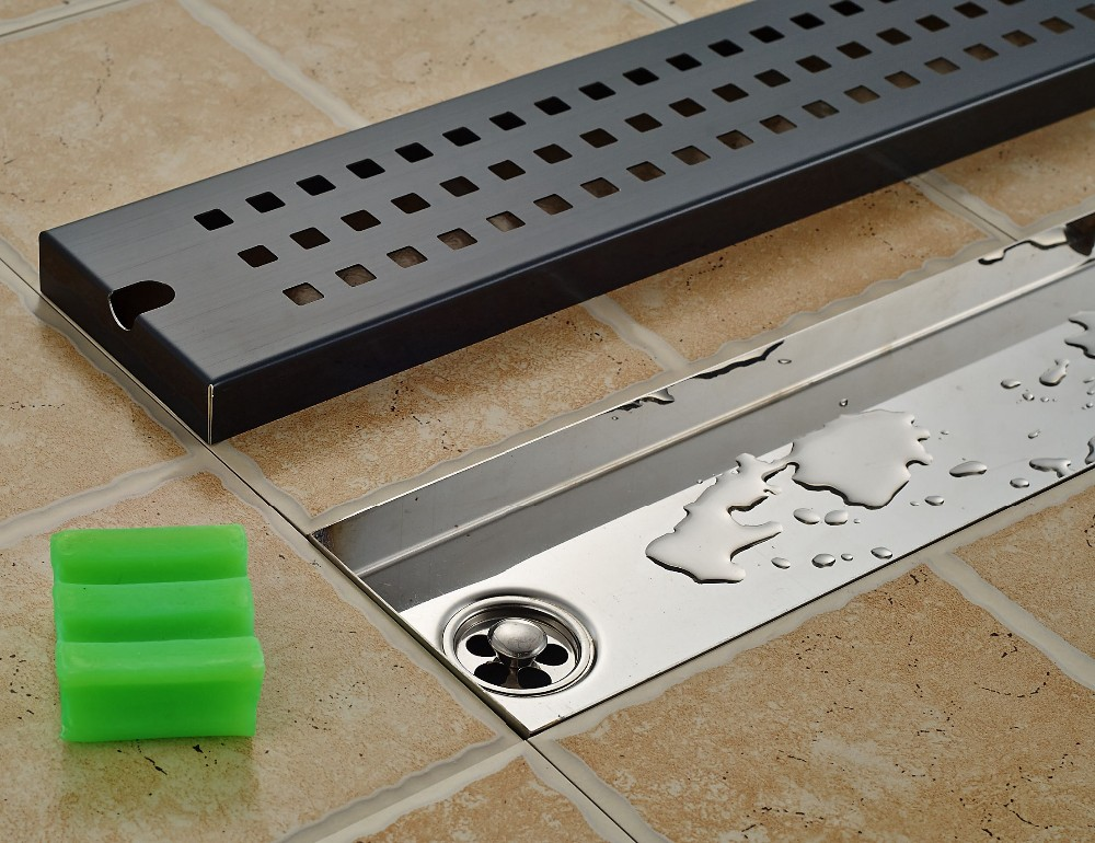 Φ Φnuovo arrivo olio strofinato broze bagno scarico a pavimento