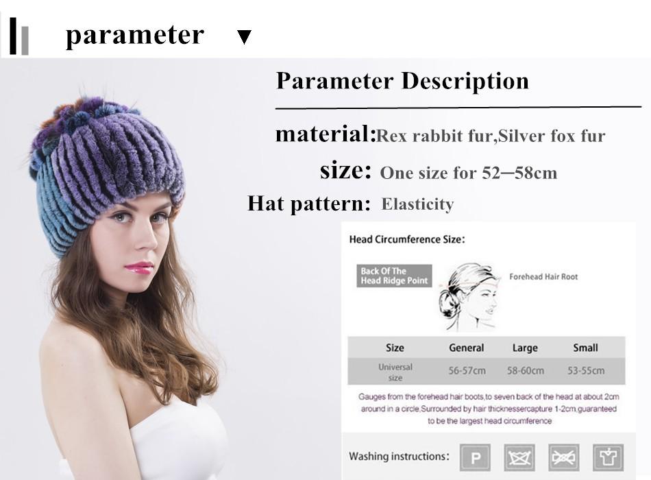 ᑎ‰Mujeres Rex conejo Pieles de animales sombrero Piel auténtica ...