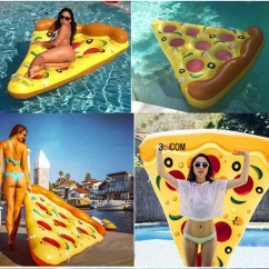 Portable Lounge Chair Cushion Office Chairs High Back ∞pool Pizza Slice Ride On ღ Swimming Fun Water Sports Lounger ヾ(^ ^)ノ Inflatable ...