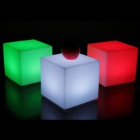 20cm color change LED light up cube bar chairs furniture ...
