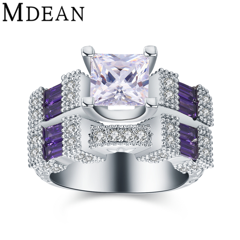 Aliexpress.com : Buy MDEAN new white gold plated rings for