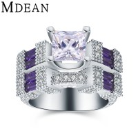 Aliexpress.com : Buy MDEAN new white gold plated rings for ...
