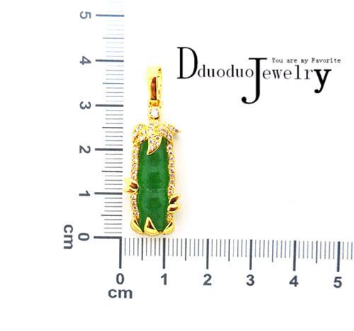 071b4db1f339 ▽24 K oro de color boda joyería encanto clásico jadeíta