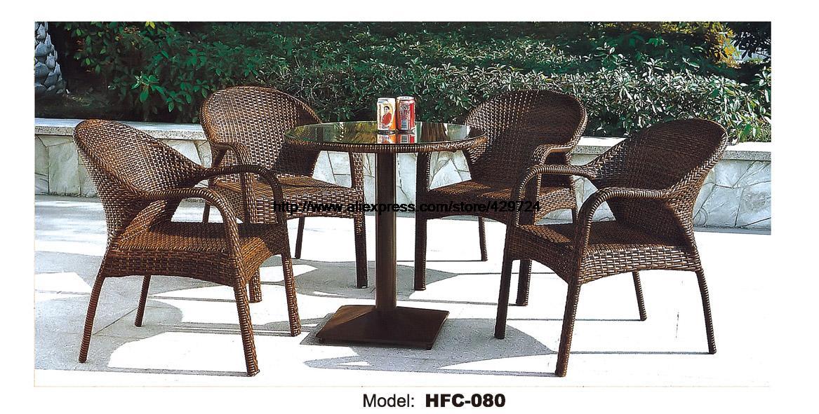 Rattan Balcony Furniture Set Small yard Rattan Garden