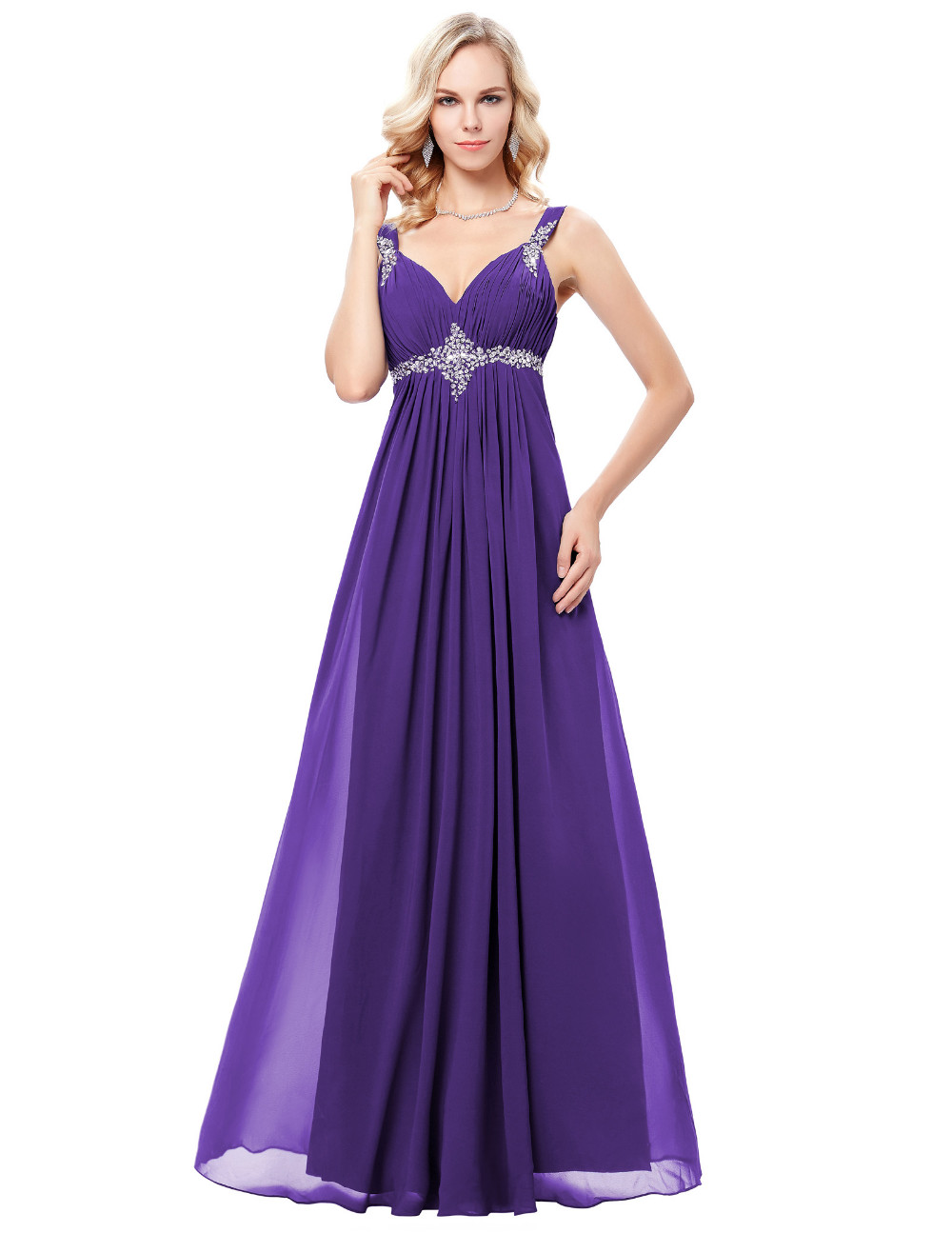 Φ_ΦGrace Karin 2018 Chiffon Long Evening Dress Abendkleid Purple ...