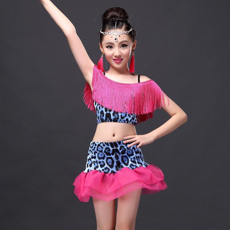 √2017 chica Latino vestido para Salón baile niños traje para Niñas ...