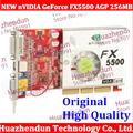50PCS lot Direct from Factory NEW GeForce FX5500 256MB DDR AGP 4X 8X VGA DVI Video