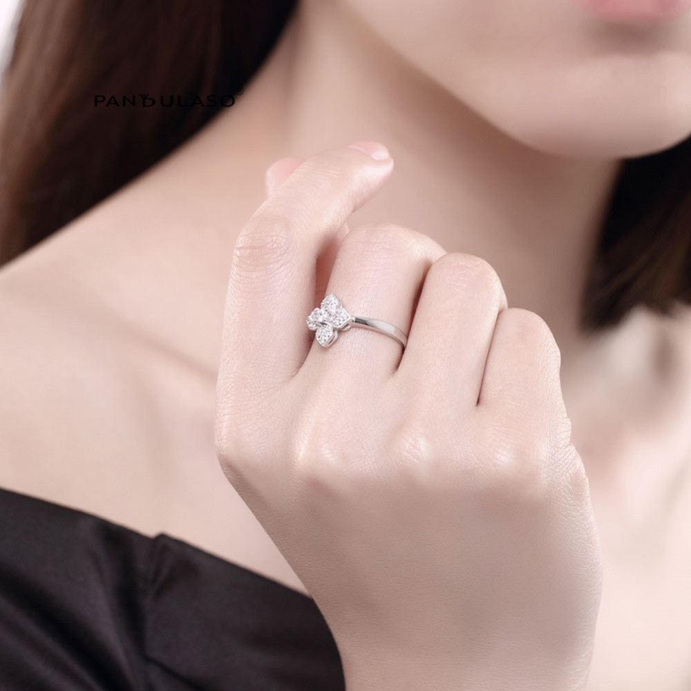Lilac Open-End Ring Sterling-Silver-Rings DIY Fashion European Style ...