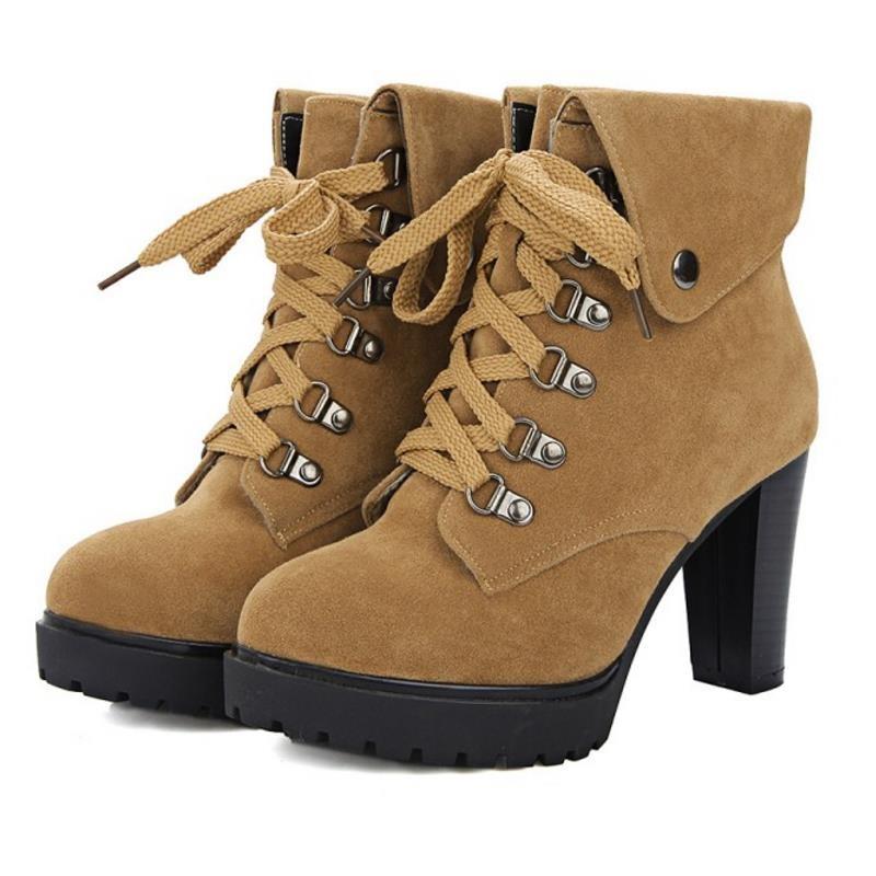QIN&X Fond plat pour femmes chaussures Plateforme Martin. Chaussures,36,Kaki