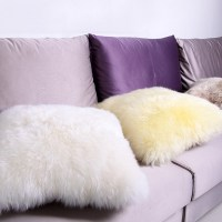 Aliexpress.com : Buy Sheepskin wool pillow bed pillow sofa ...