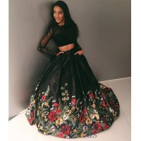 floral ball gown dress