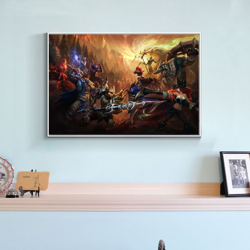 ⑧Modern game style League of Legends lol canvas art painting on the ...