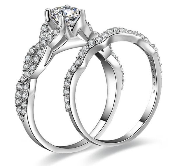 New Fashion Wedding Ring Wholesale Cz Wedding Ring Sets