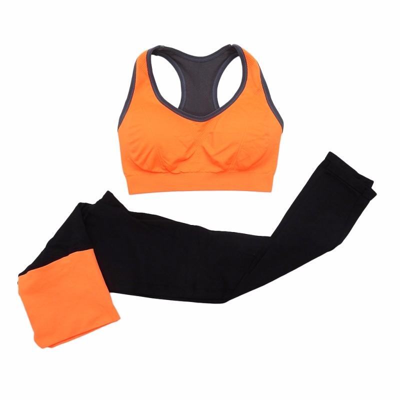 65d40d800 ᑐ2 unids set mujeres Seamless Sports BRA + Pantalones Leggings Yoga ...