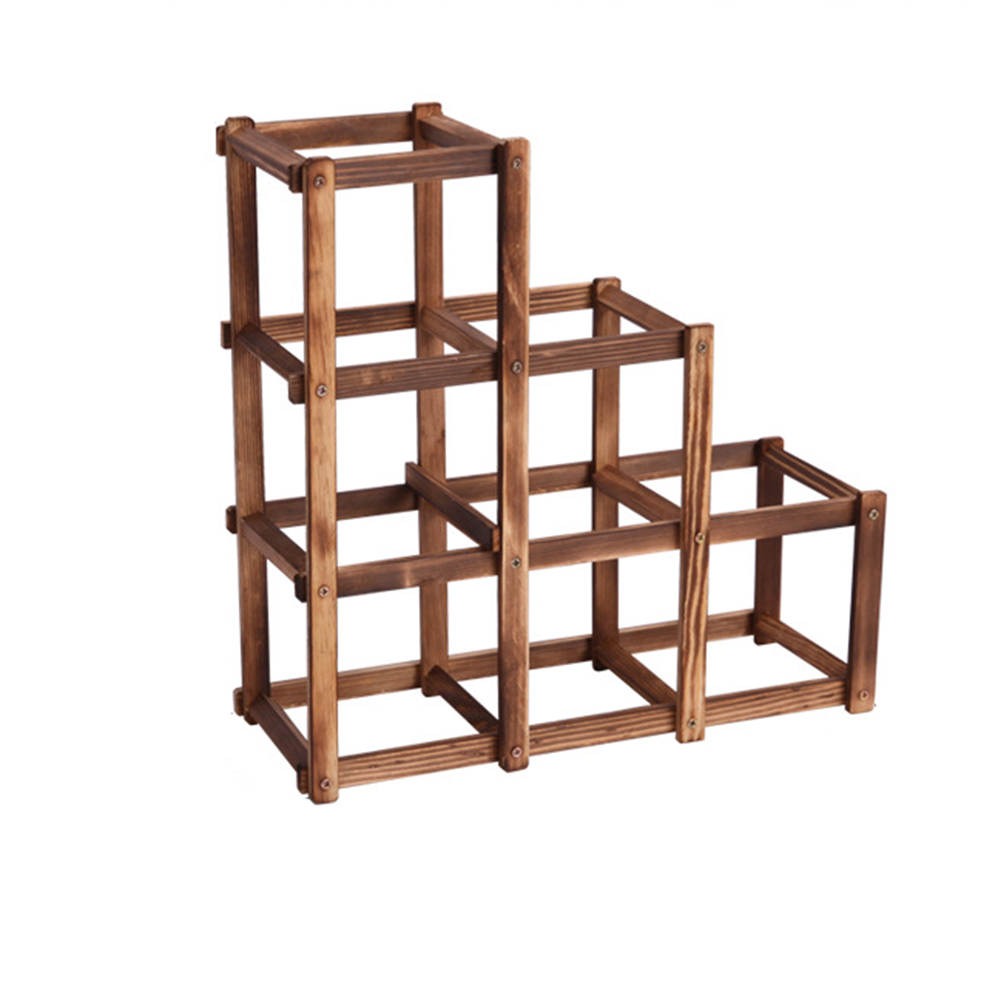 6 Bottle Wooden Wine Rack 6 Folding Wood Wine Rack Alcohol Care Drink Bottle Holders