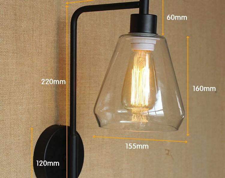 ⃝60 Watt Retro-stil Loft Vintage Industrielle Lampe Leuchten Mit ...