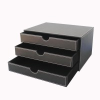 Aliexpress.com : Buy Ever Perfect A4 3 Drawer Wood Leather ...
