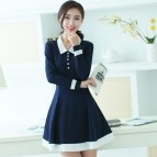 Korean Fashion Autumn Girls Shirt Dress Long Sleeve