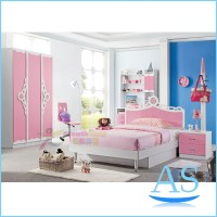2015 China modern lovely kids bedroom furniture girls