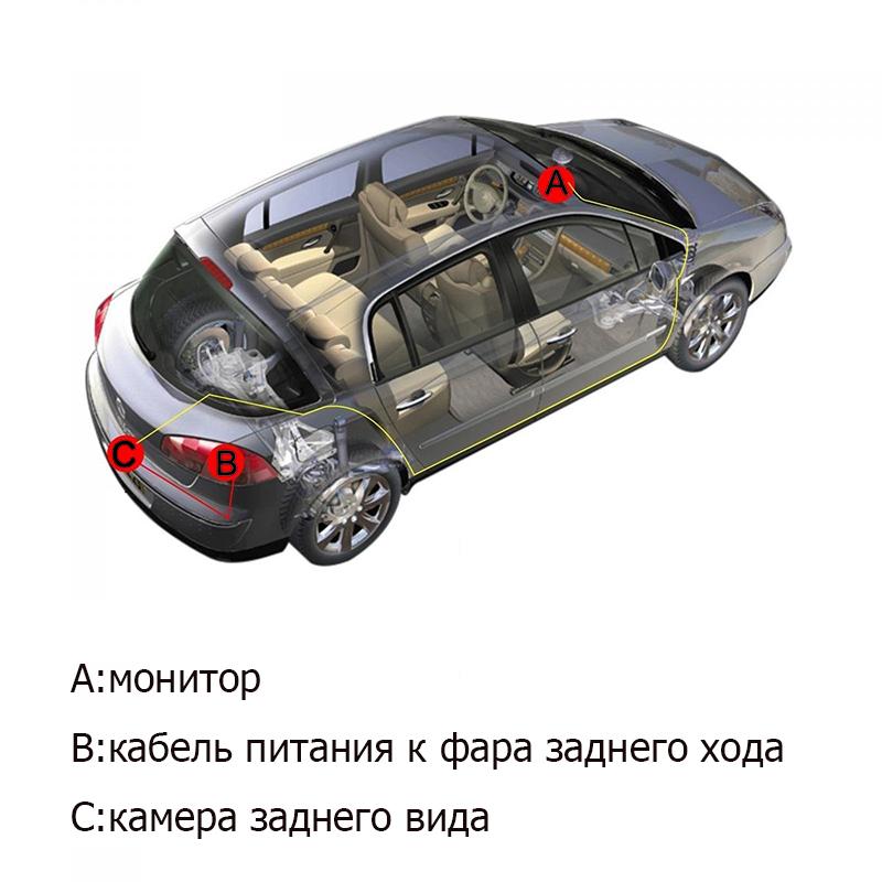 ୧ʕ ʔ୨Car License Plate Frame HD CCD Car Rear View Camera ...