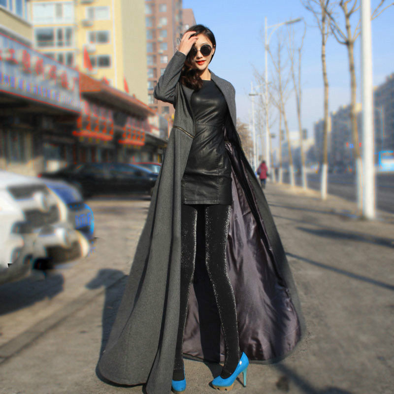 2019 Wholesale Extra Long Trench Coat For Women Winter