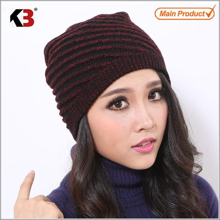 4314cdfc8e31 ... 2016 Hot Sale Unisex Knit Baggy Beanie Beret Winter Warm Oversized Ski  Cap Hat (5