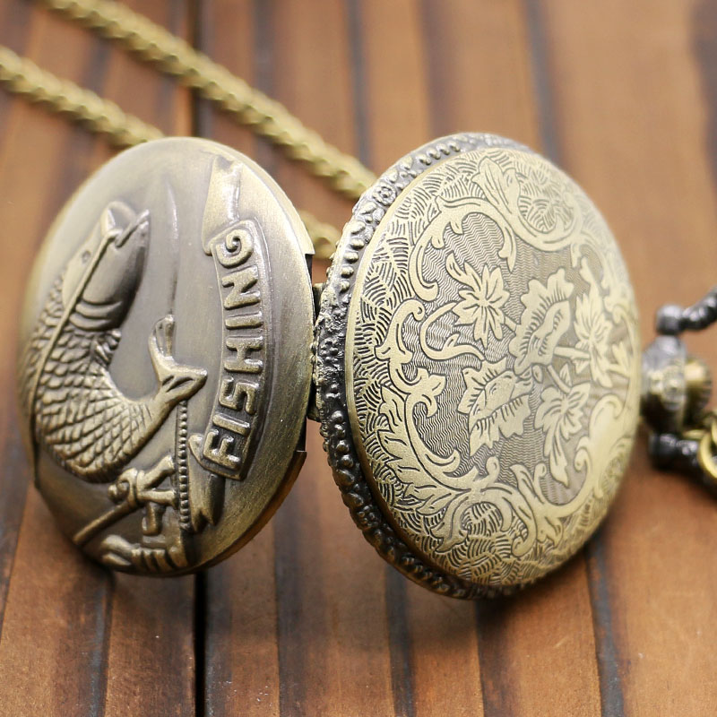 Watches Supply Floral Rattan Pocket Watch Retro Black Skull Quartz Pocket Watch Necklace Pendant Fashion Ghost Retro Chain Clock Souvenir Gift Easy And Simple To Handle