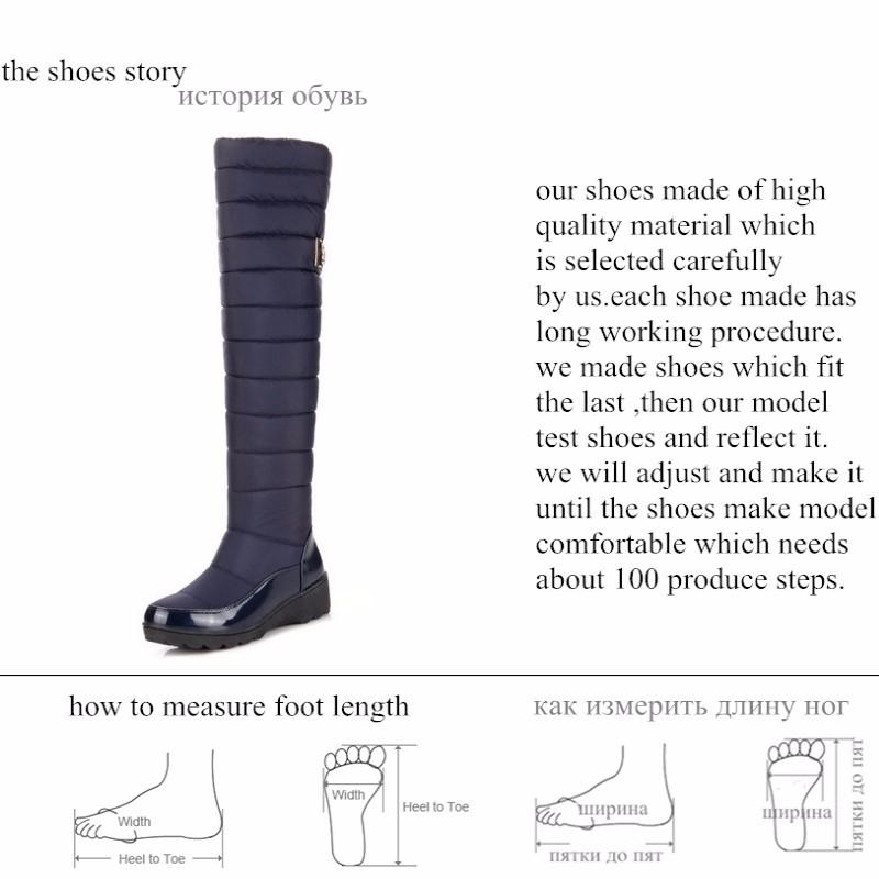 BONJOMARISA rodilla muslo botas altas mujeres zapatos invierno de invierno zapatos 2e13c9