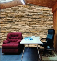 3D Stone Brick Wallpaper Wall Murals Stereo Personalized