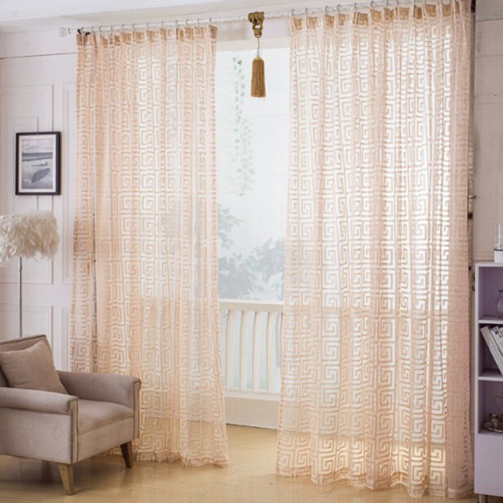 Kitchen Door Curtain Summer Style Shallow Orange Curtains Home
