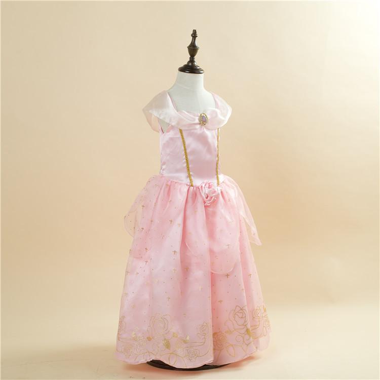 ✅Niños princesa Aurora Cenicienta vestido de fiesta verano vestidos ...