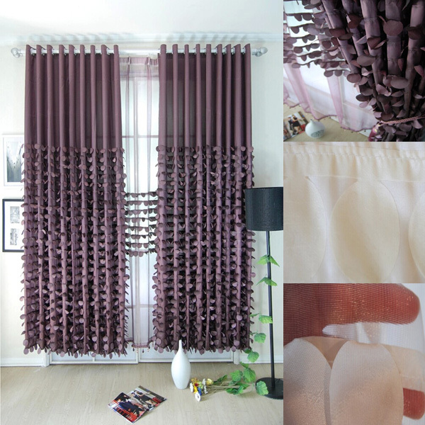 2015 Shaoxing Wholesale Deep Purple Latest Curtain Designsin Curtains from Home Kitchen