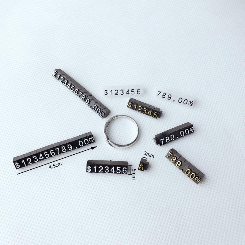 Porte bijoux supports bagues noirs pour cubes d/'etiquette prix 10 pièces