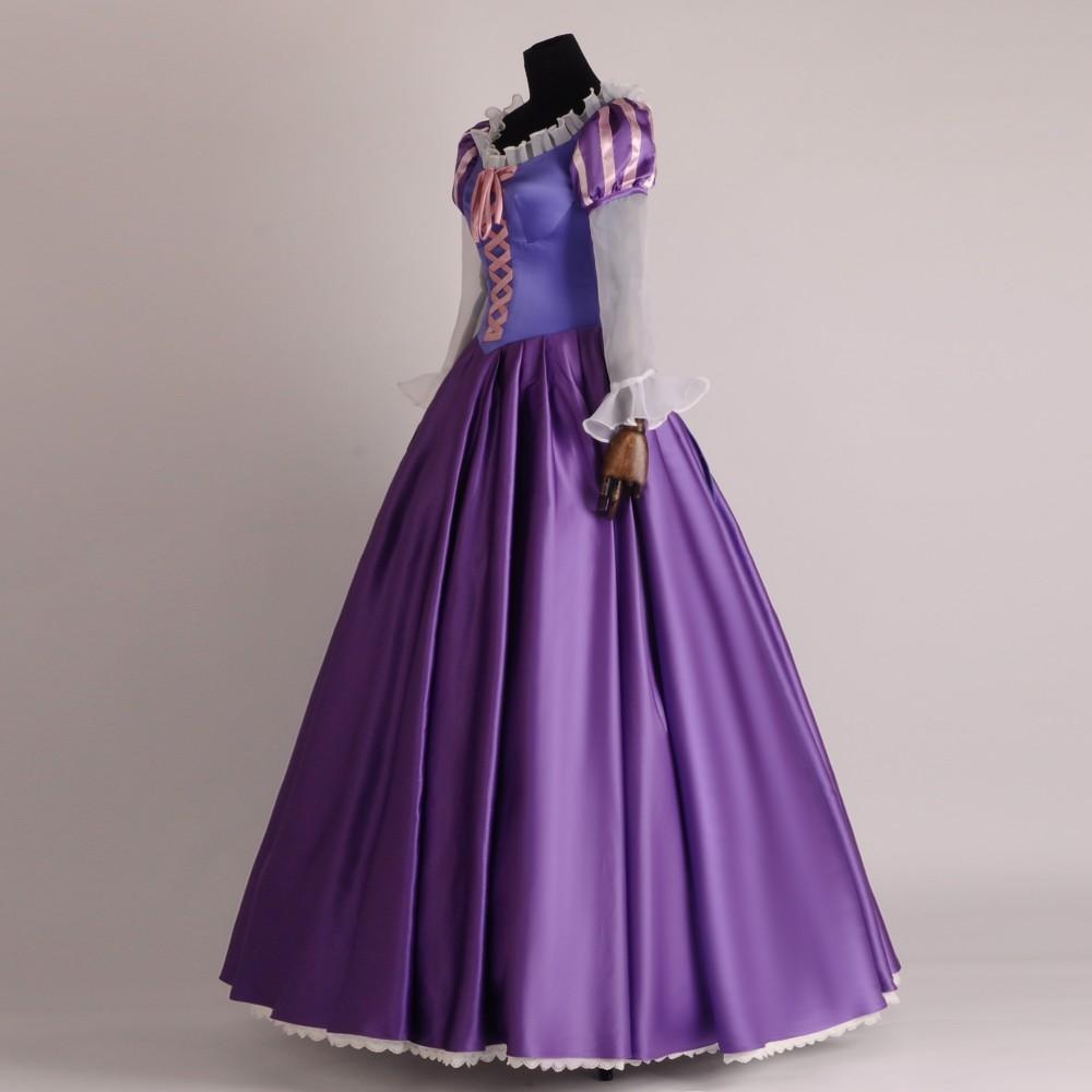 ᗑHalloween enredado fantasía adultos Rapunzel vestido Cosplay traje ...