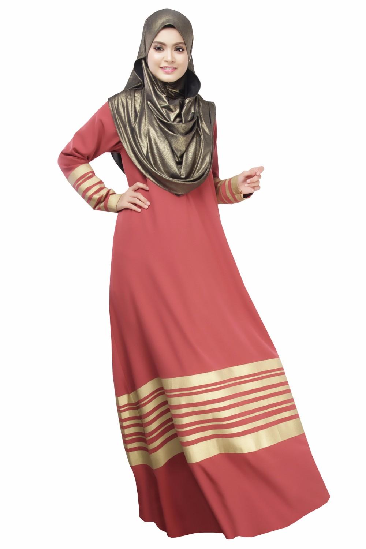 Nuevo musulmán mujeres vestido palabra de longitud abaya islámica ...