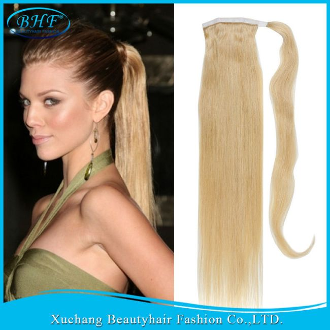 Human Hair Drawstring Ponytail
