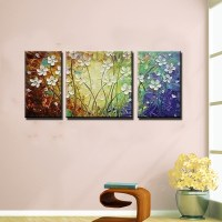 Acrylic 3 piece canvas wall art colorful canvas pictures ...