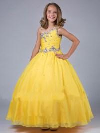 pink flower girl dresses discount cupcake yellow girls ...