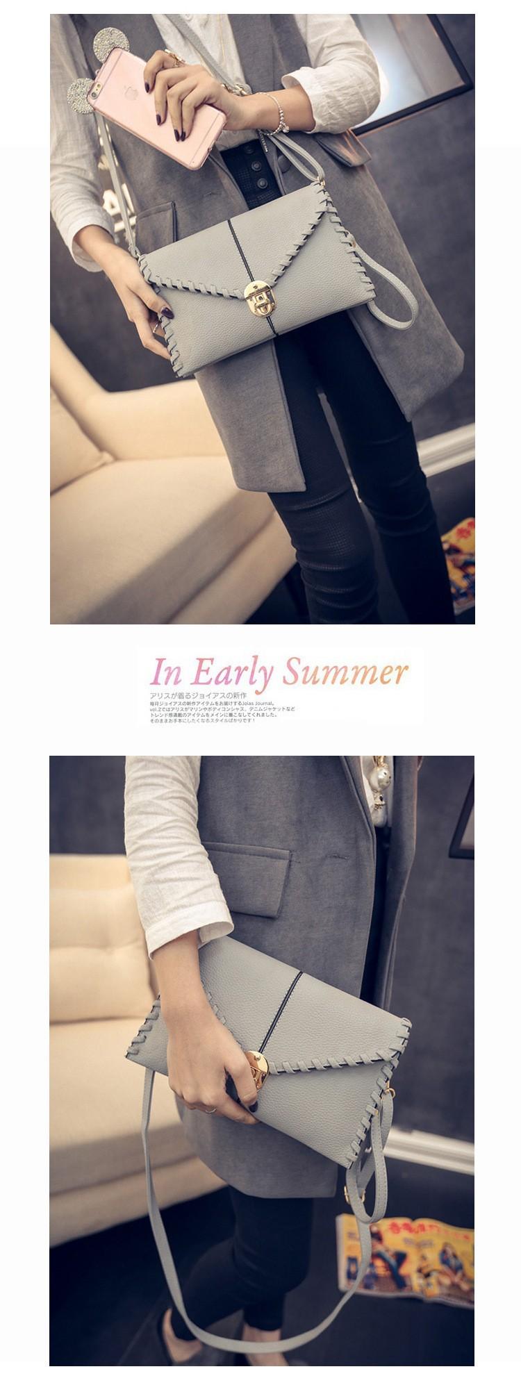 abed810ea1868 Femmes Sacs Au Début du Printemps Nouveau Rétro Enveloppe Paquet Loisirs  Tendance Tissage Femelle Forfaits Verrouillage De Mode Sac À Main Messenger  Sac