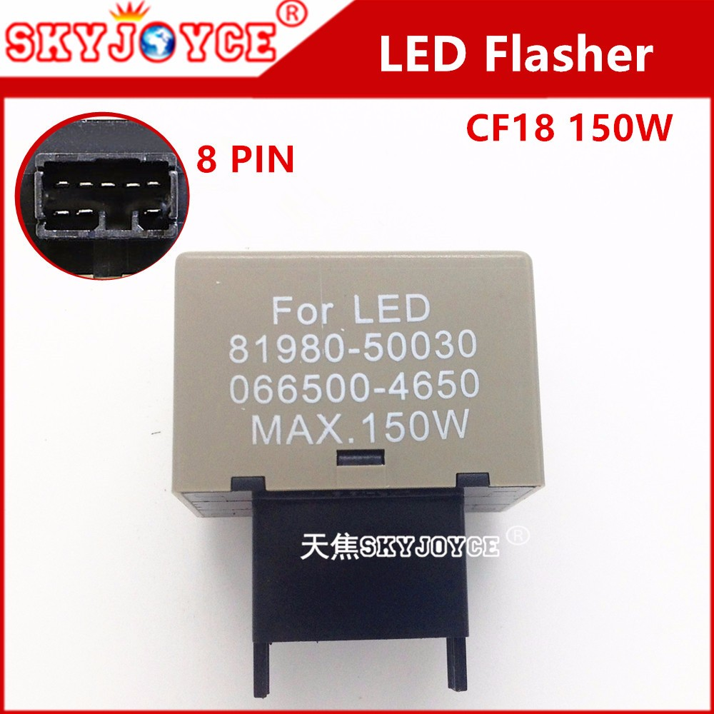 Pictures 1000 SKYJOYCE 5X CF18 LED Flasher 8 Pin Relay Module Fix Auto  Motor Turn Signal Light Error Flashing ...