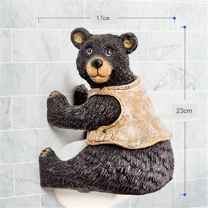 epson kitchen printer modular outdoor new resin cute bear toilet paper holder creative towel ...