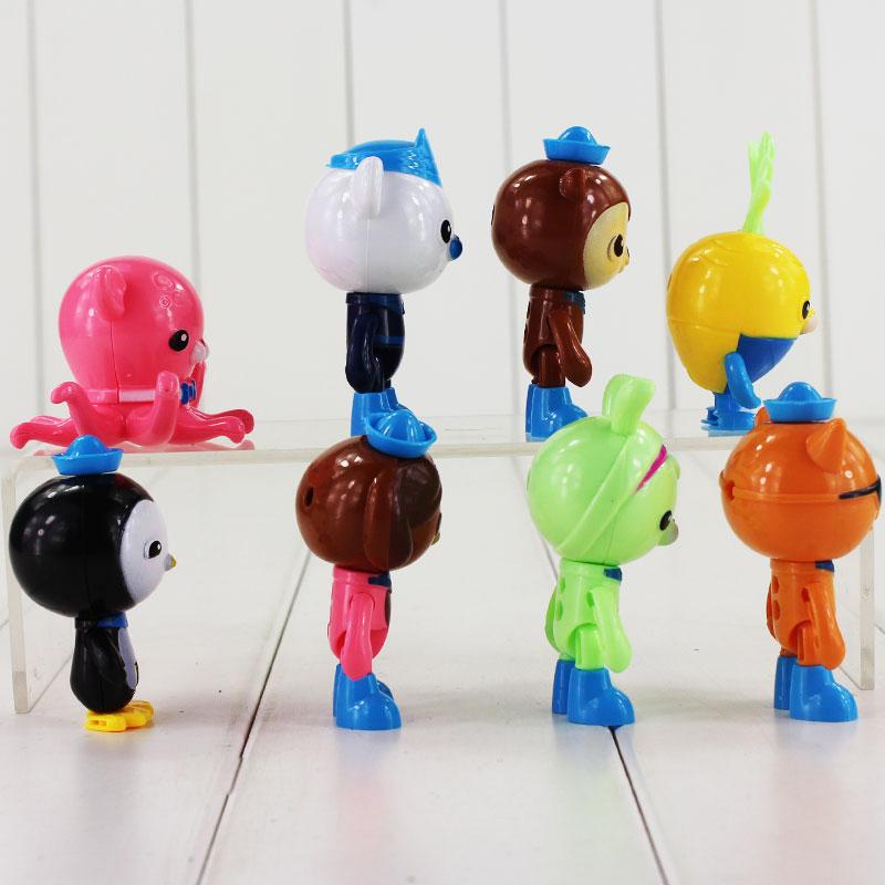 ⓪8 unids/set octonauts figura juguetes peso capitán barnacles ...