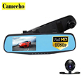 4 3 inch Dual Lens Car DVR Rear View Camera Full HD 1080P Car Camera Rearview