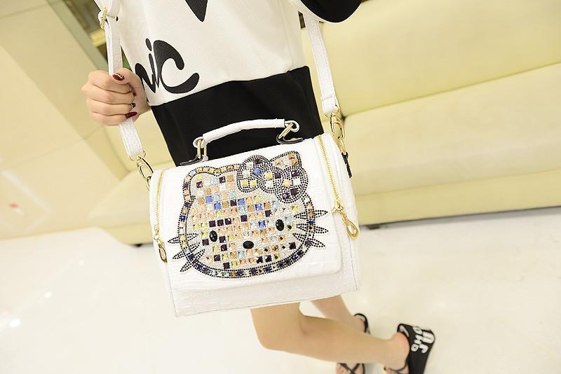 c1d595e8a39d っ2018 Luxury women female leather hello kitty bag handbags shoulder ...
